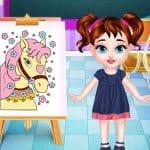Bebé Taylor En La Clase De Pintura