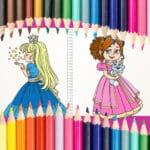 Hermoso libro para colorear princesa