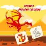 Amistoso De Dragones Para Colorear