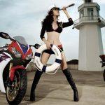 Motocicleta y Niñas de Puzzle