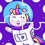 Lindos rompecabezas de unicornio arcoíris