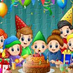 Feliz cumpleaños con la familia
