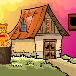 Escape de la aldea humilde