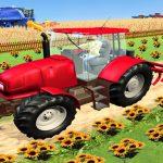 Simulador de agricultura de tractor moderno: juegos de trilladora
