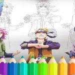 Naruto Shippuden Coloring Book: dibujar libro Ninja