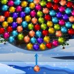 Orbitando bolas de Navidad