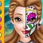 Tendencia de pintura facial de princesa