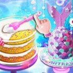 Pastel Unicornio Chef Sirena