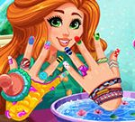 Spa de uñas de bricolaje de Jessie