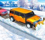 Arado De La Nieve Jeep De Conducción